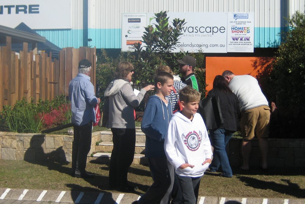 Visitors to the Novascape stand at the Newcastle Home Show 2014