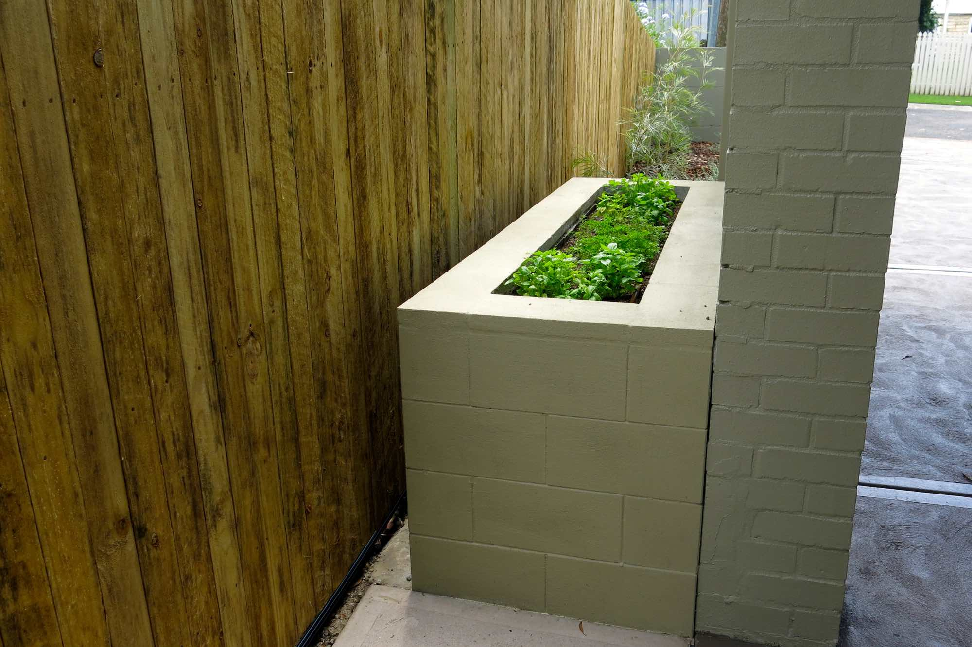 Versaloc block planter box herb garden