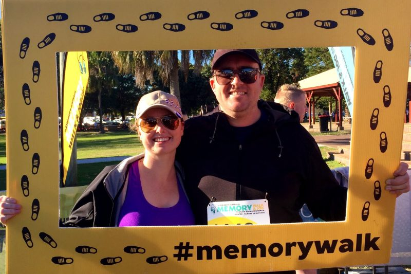 Tim participated in the Hunter Memory Walk
