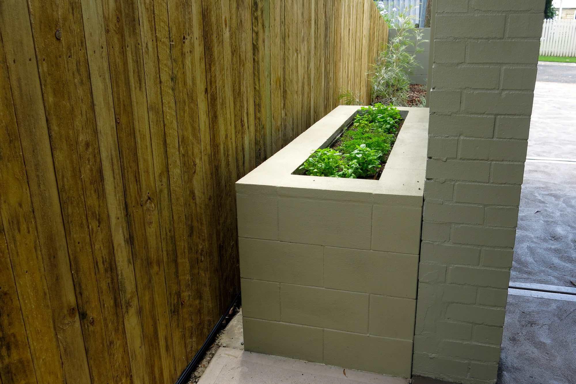 Versaloc block planter box herb garden